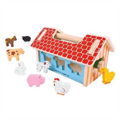 valigetta fattoria con animali