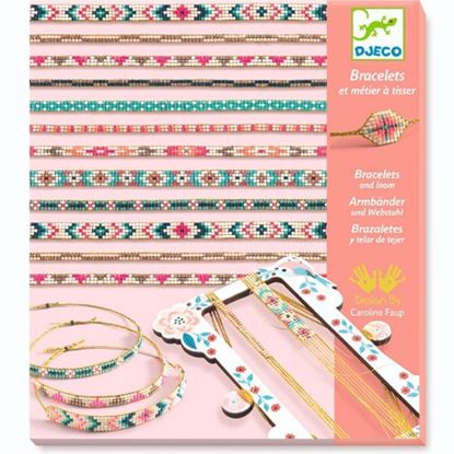 braccialetti con telaio e perline djeco