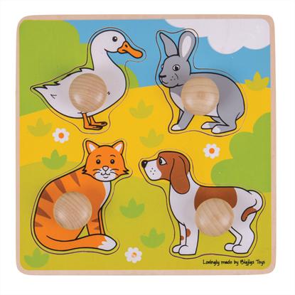 puzzle con pomolo animali