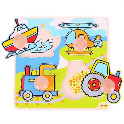 puzzle con pomolo veicoli