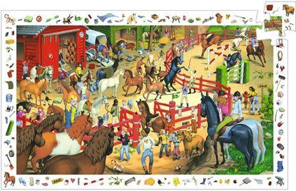 puzzle gioco equitazione djeco