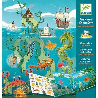 stickers riposizionabili le avventure del mare