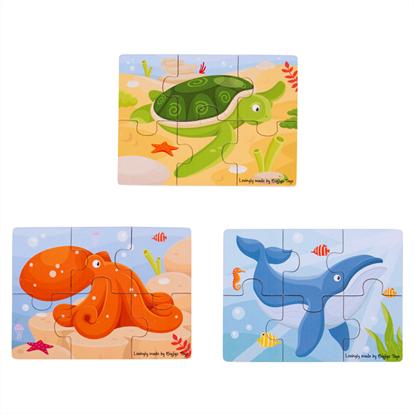 puzzle in legno animali marini