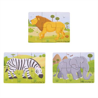 puzzle in legno animali selvaggi