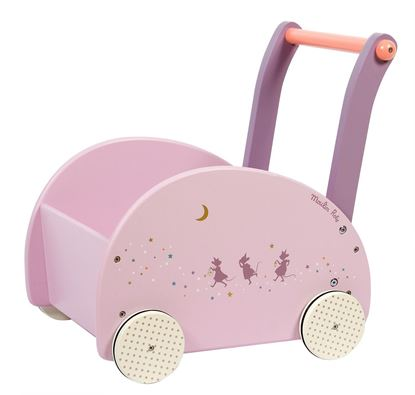 carrello primi passi rosa