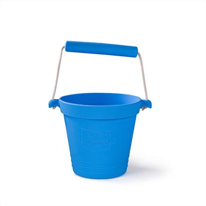 secchiello azzurro in silicone
