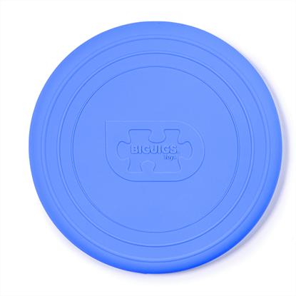 frisbee azzurro in silicone