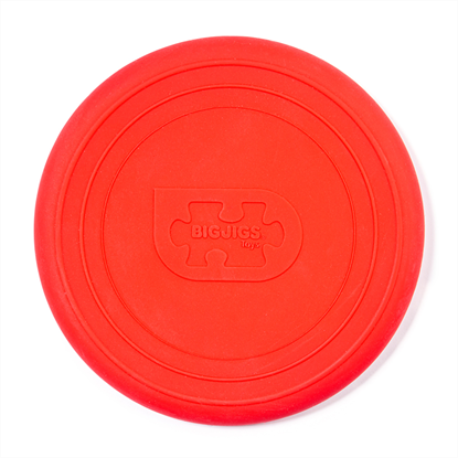 frisbee rosso in silicone